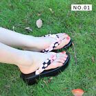 Japanese women clogs flip with slippers crescent style sandals 3 color