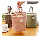 Portable Canvas Tote Thermal Insulated Lunchboxes Picnic Pouch Insulation Bag