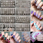 BORN PRETTY Nagel Rectangle Schablonen Stamping Template Plate Nail Art Maniküre
