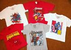 MARVEL AVENGERS T-SHIRTS SIZE 4-8, BRAND NEW. FREE SHIPPING!
