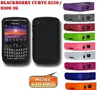 AMZER Silicone Jelly Skin Cover + extra Case For BlackBerry Curve 3G 9300 8520