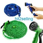 25 50 75 100 Feet Expandable Flexible Garden Yard Water Hose + Spray Nozzle NEW!