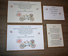 10x Personalised Handmade Wedding Day/Evening invitations with RSVP & Poem Card