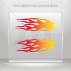 Stickers Decal Pair Of Flames Red Orange Yellow Vehicle st5 ZE265