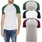 Brave Soul Mens Baptist Designer Crew Neck T-Shirt Cotton Rich Raglan Sleeve Top