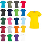 Women's Fruit Of The Loom Rib Short Sleeved Lady-Fit Original T-Shirt Size 8-18