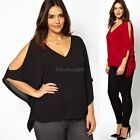 Fashion Women's Ladies Off-Shoulder T-Shirt Batwing Sleeve Tee Blouse Tops C5