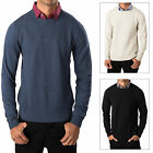Threadbare Mens Knit Jumper Geneva Crew Neck Jumper Mock Shirt Collar Pullover