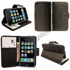 Printed Leather Magnetic Flip Wallet Case For iPhone 3 3GS + Screen Protector