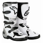 ALPINESTARS TECH 6S YOUTH BOOTS WHITE SILVER KIDS JUNIOR MOTOCROSS MX CHEAP SALE