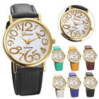 New Fashion Womens Watches Leather Band Stainless Steel Dial Quartz Wrist Watch
