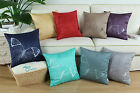 "18""X18"" CaliTime Vivid Butterfly Embroidered Cushions Throw Pillows Covers Home"