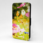 Flowers Print Design Pattern Flip Case Cover For Samsung - P1194