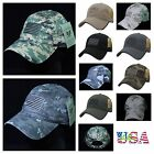 Baseball Cap USA Flag Army Military Hunting Tactical Fashion Camo Licensed Hats