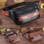 Men Waist Bag Cross Chest Pack Real Genuine cow Leather Pouch black brown 6143