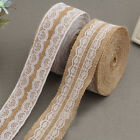 Vintage Lace Linen Roll Burlap Ribbon Rustic DIY Wedding Party Decor Crafts