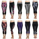 Hot Women Yoga Gym Running Sports Cropped Pants Workout Fitness Elastic Leggings