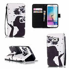 Cute Design Card Holder Wallet Leather Flip Case Cover For Samsung Galaxy Phone