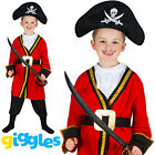 Boys Captain Hook Pirate Kids World Book Day Week Fancy Dress Costume Outfit