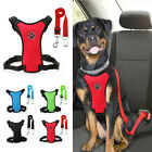 Breathable Air Mesh Puppy Dog Car Harness&Seat belt Clip Lead for Dogs S M L