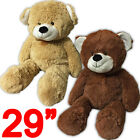 "29"" TEDDY BEAR RIBBON SOFT CUDDLY COSY PLUSH GIFT LARGE TOY CUTE XMAS PRESENT"