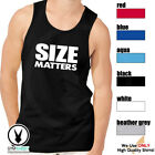 SIZE MATTERS C10 Men's Muscle Tank T-Shirt Workout Gym BodyBuilding Fitness MMA image
