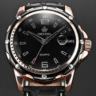 ORKINA Luxury Men's Leather Date Day Analog Quartz Sport Military Wrist Watch