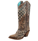 Corral Women's Cutout & Embroidery Boot- Sand