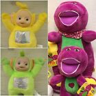 Kids NEW SET OF 4 TELETUBBIES(10inch)SOFT PLUSH TOYS AND Barney & Friends 8inch