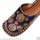 Hand Tooled Leather Purple Mules Shoes Size 4, 5 Liquidation Sale