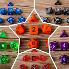 7pcs Set 5 Color TRPG Games Dungeons & Dragons D4-D20 Multi-Sided Dice Gift - LD