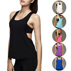Womens Athletic Apparel Loose Quick Dry Fitness Yoga Gym Sports Tops Vest