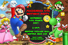 Personalised Super Mario Bros Birthday Party Invites inc Envelopes