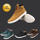 Men Casual High-top Slip On Lace Up Shoes Sneakers Flat Ankle Trainers Boots
