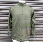 ITALIAN ARMY SURPLUS ISSUE GREEN ZIP NECK SYNTHETIC T-SHIRT LONG SLEEVE, NORGIE