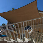 Sun Shade Sail 8x12 FT Kintted Outdoor Garden Canopy Patio Pool Awning Top Cover