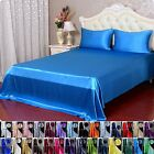 4pcs 16Momme 100% Pure Silk  Fitted Flat Sheet Pillow Case  With Seam
