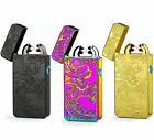LED Rechargeable Electric LIGHTER Double ARC PULSE Flameless Plasma Torch UK