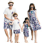 Summer Family clothes Mother Daughter dress Floral father son T shirt Pants Sets
