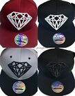 Diamond snapback caps, mens, ladies flat peak baseball hats, bling hip hop drip