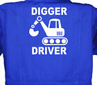 Digger Driver, Baby, Childrens, Kids, Coverall, Boilersuit, Overall 1-8yrs