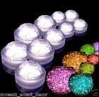 10 Submersible Waterproof Battery 3 LED Dome Tea Lights & 10 Packs Water Beads
