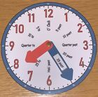Learn To Tell the Time Clock Teaching aid - (Blue & Red)