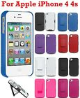 AMZER Shell Hard Hybrid Kickstand Case Cover Belt Clip Holster For iPhone 4 4S
