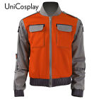 Back To Future Marty Mcfly Jacket Cosplay Costume Man Coat New Casual Outwear