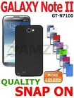 AMZER Rugged Shell Snap On Hard Case Cover For Samsung GALAXY Note II 2 N7100