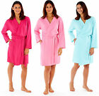 Ladies Kimono Wrap 100% SOFT JERSEY COTTON Summer Dressing Gown Navy Blue Pink