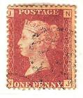 1858-79 1d ROSE-RED USED SG43/44 Plates 181-200