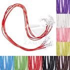 10pcs Cotton Cord Wire Ribbon Lobster Clasp Necklace 1.5x1.5mm Jewellery Making