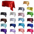 """TulleShop 90"""" x 132"""" Inch Rectangular Satin Tablecloth Table Cover Wedding Party"""